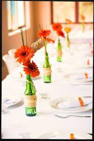 decoração com garrafas de vidro em casamento - Pesquisa Google