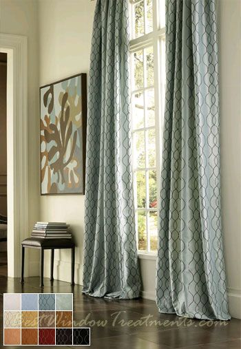 Pasha Curtains In 84 96 108 Inch Or 120 Extra Long Ready Made Draperies Bestwindowtreatments Decorating With Blue 2018 Pinterest