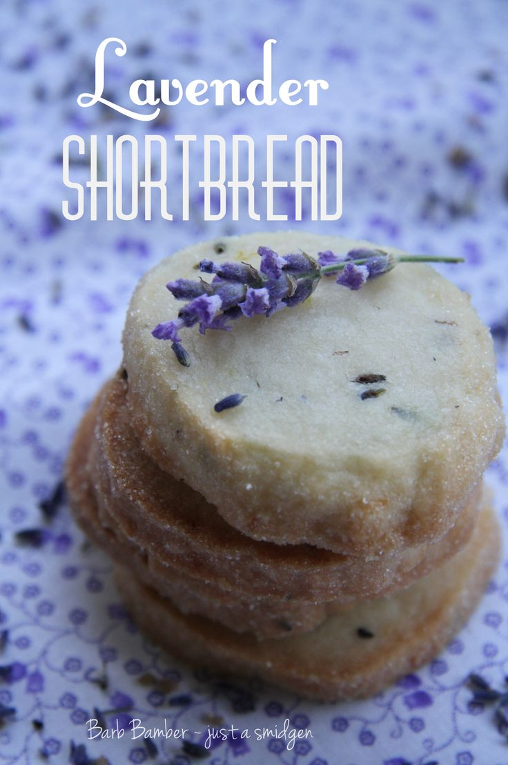 I think I would this- liLavender Shortbread {recipe} so elegant, tea party perhaps?