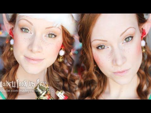 the 25 best elf makeup tutorials ideas on - Christmas Elf Makeup