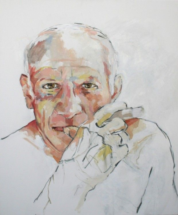 """""""Pablo Picasso, self portrait""""...? Ca m'étonnerait que Picasso fasse des autoportraits d'après photo...c'est pas le genre de la maison !"""