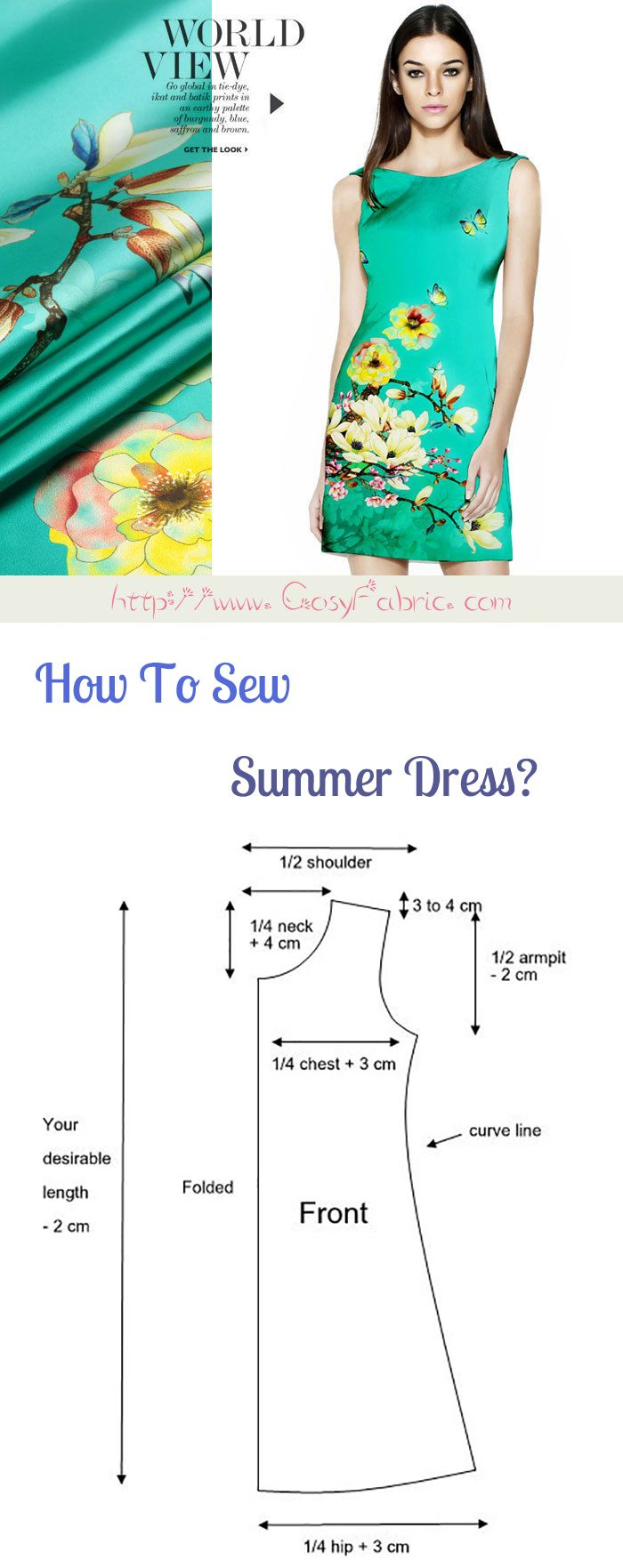 How To Make An Easy Dress. #dress #sewing #fashion
