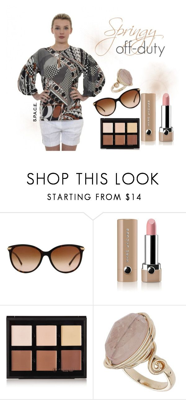 """""""Springy Off-Duty"""" by marsilistore on Polyvore featuring moda, Burberry, Marc Jacobs, Anastasia Beverly Hills, Topshop, women's clothing, women's fashion, women, female e woman"""