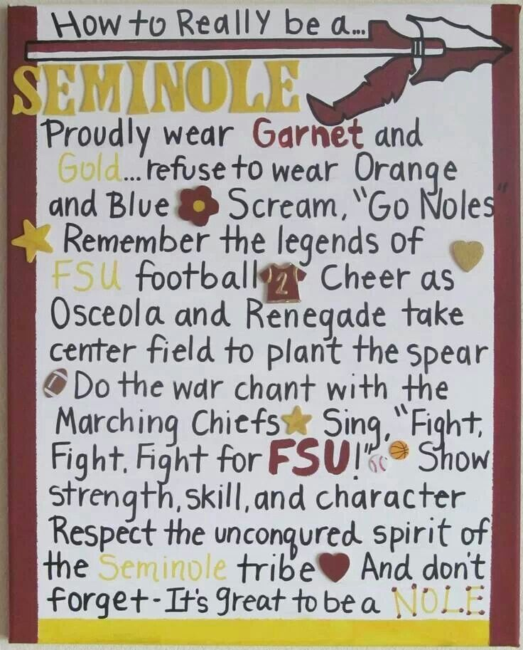 Proud Seminole, always and forever!