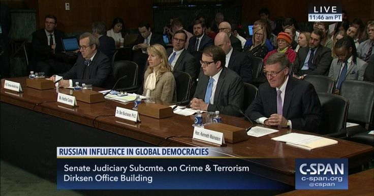 MARCH 15, 2017 Russian Interference in Democracies The Senate Judiciary Committee heard testimony on Russia's attempts to interfere with democratic countries around the world.