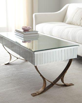 """Jocelyn"" Coffee Table. Light burnished gold finish"