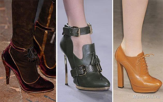 Какая обувь в моде этой осенью