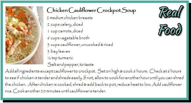 Chicken Cauliflower Crockpot Soup