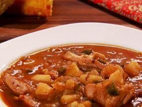 Green chili chicken stew, so tasty.