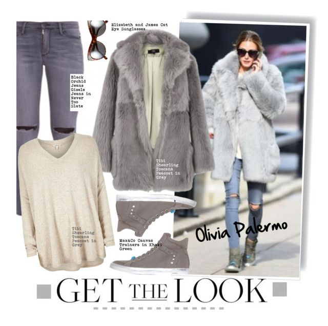 """""""Get the Look: Olivia Palermo"""" by hamaly ❤ liked on Polyvore featuring Black Orchid, Elizabeth and James, TIBI, River Island, Max&Co., GetTheLook, StreetStyle, OliviaPalermo, furcoats and waystowear"""