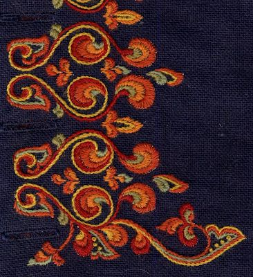 FolkCostume&Embroidery: Costume and 'Rosemaling' Embroidery of West Telemark, Norway (Man's bunad)