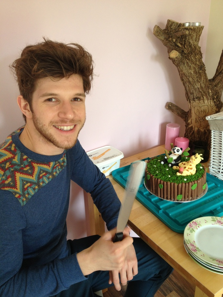 Paul with his cake