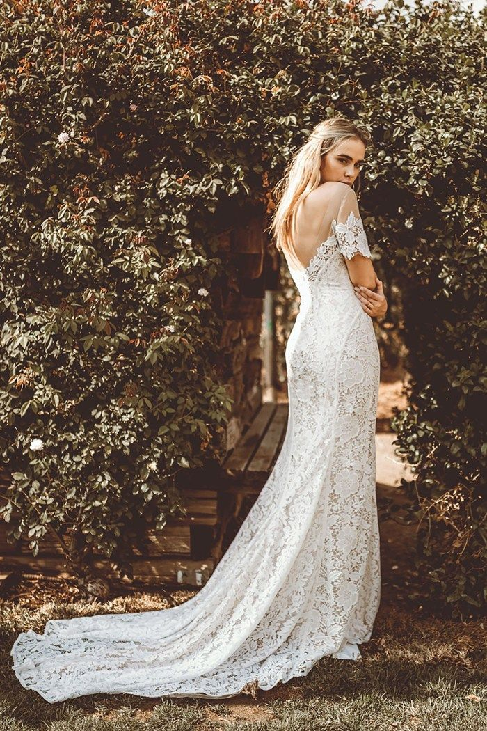Gws X Lovers Society Carter Gown Wedding Dress Train Lace