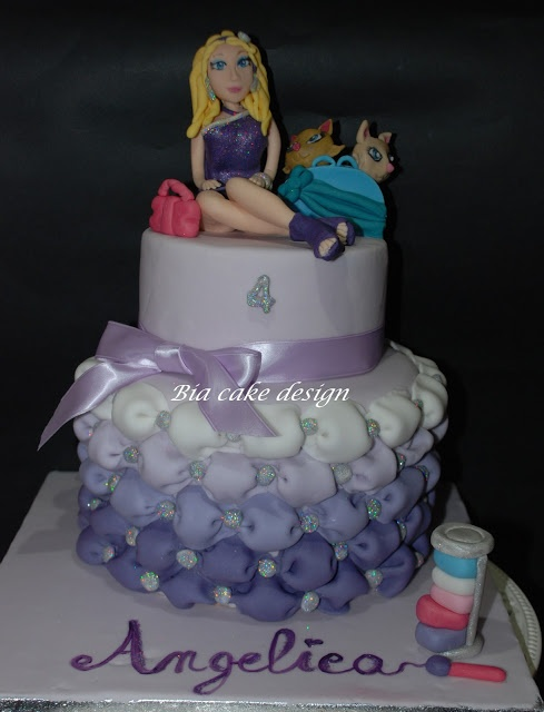 le torte di Bia: Barbie cake per Angelica