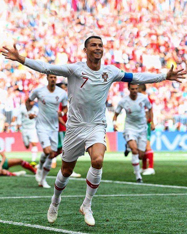Cristiano Hoje Contra Marrocos Bateu Mais Um Recorde Ele Ja E O Jogador Europeu Com Mais Golos Marcados Pela Sua Seleccao 85 Go Copa Do Mundo Futebol Fifa