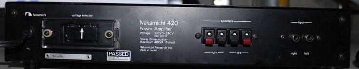 Nakamichi 420 Power Amplifier Amp Vintage Audio Music Audiophile Pro #Nakamichi #Power #Amplifier #Amp #Vintage #Audio #Music #Audiophile #Pro