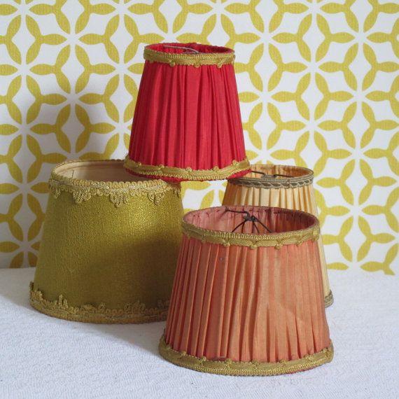 Lampshade vintage clip lamp Hat vintage by CrazyFrenchVintage