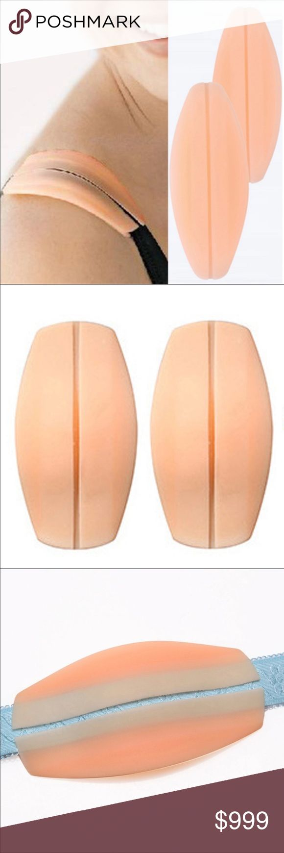 2PC/1Pair Soft Silicone Bra Strap Holder Cushions 2PC/1Pair Soft Silicone Bra Strap Holder Cushions Non-Slip Shoulder Strap Cushions Pads Holder Bra Pads Cushions Relief Pain Intimates & Sleepwear Bras