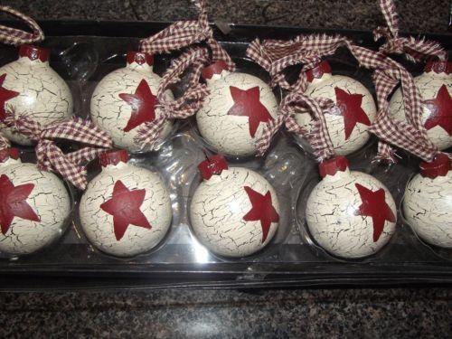 Primitive Christmas Ornaments To Make   Primitive Christmas Ornaments