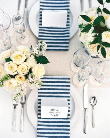 Nautical White Centerpieces | Martha Stewart Weddings