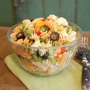 Rainbow Pasta Salad Recipe on Yummly. @yummly #recipe