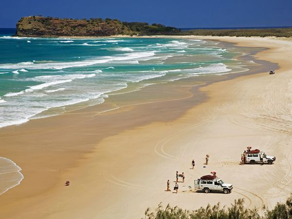Fraser Island, Australia. The world's largest sand island just off the coast of Queensland