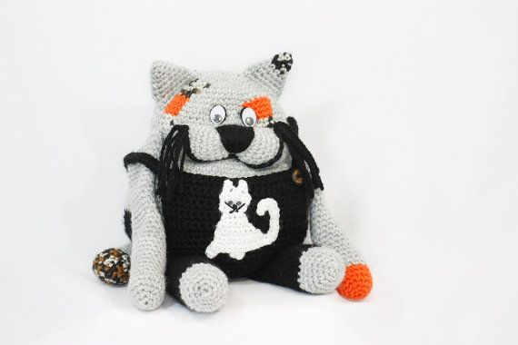 Gimpy the cat dollcrocheted doll kids toy babies by BadHatCat