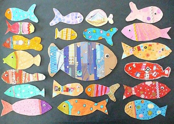"""FRANCE - """"Poisson d'Avril"""" (or April fish) appear in France on April 1 and continue throughout the Easter season. A fun kid craft for those with French heritage."""