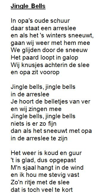 "Liedje: ""Jingle bells"" met tekst!"