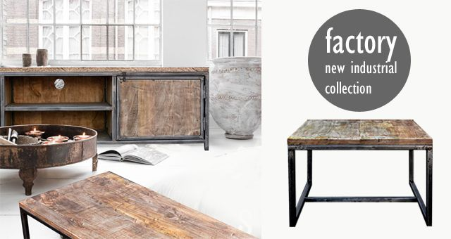 """kolekcja """"Factory"""" meble loft industrial"""