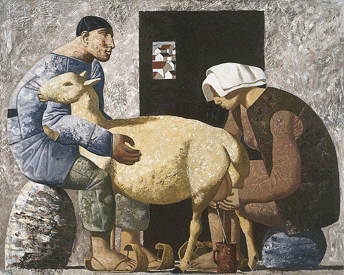 Комментарии к фотографиям Академия художеств | practicum – 57 комментариев | ВКонтакте Дойка белой овцы. худож Хамид Савкуев