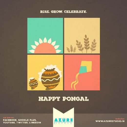 Creative Design for Pongal - The Harvest Festival 2016.