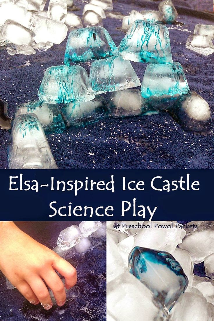 Preschool Powol Packets: Elsa's Ice Castle Science Play