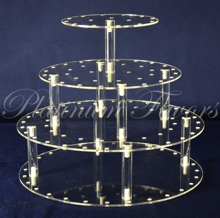 Cake Pop or Cupcake Acrylic Display Stand Round 39 Holes #Platinumfavors