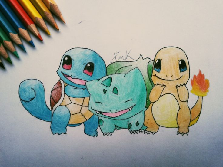 Pokemon family  #pokemon #squirtle #bulbasaur #charmander #dragon #turtle #power #water #earth #fire #fairytail #pokeball #pocketmonsters #animeart #friendship #true #love #bestfriendsforever #cute #geek #kawaii #cute #draw #drawing #art #paper #painting #colour #blue #green #orange