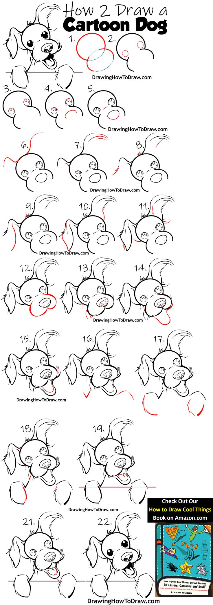 How to Draw a Cartoon Terrier Dog Easy Steps Drawing Lesson for Beginners