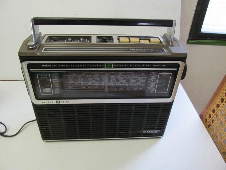 GE General Electric 7-2970B  Portable 10 Band AM FM SW Air PS CB Radio