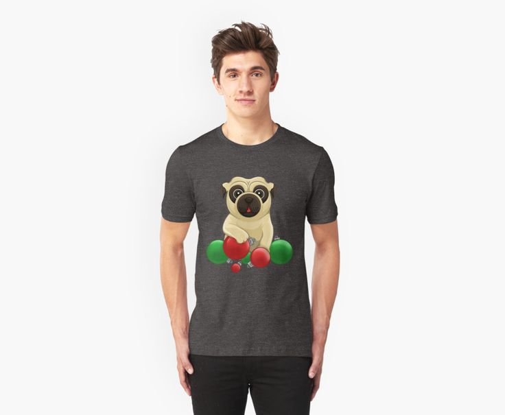 A Pug Christmas T-Shirts and Hoodies by AnMGoug on Redbubble. #Christmas #pug #dog #tshirt
