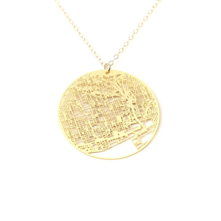 Toronto Necklace Gold Plate