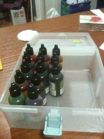 CTMH My Acrylix® Mini Stamp Organizer used to store re-inkers. #ctmh