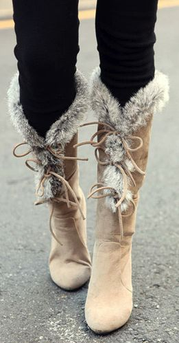 Winter boots, So Sweet. I would wear them, I need them with this Weather right now... COLD