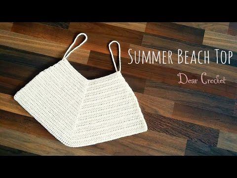 코바늘 비치웨어 여름 탑 (Crochet summer beach top) - YouTube