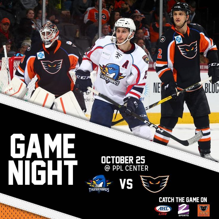 It's a game night! The Lehigh Valley Phantoms host the @thunderbirdsahl tonight at 7:05 inside of @pplcenter! Tune into the game on Service Electric TV2 Sports or listen live via the Phantoms365 App! Get tickets online!  #LehighValley #Phantoms #AHL #LehighValleyPhantoms #LVPhantoms #IceHockey #Hockey #Philadelphia #Flyers #PhiladelphiaFlyers #GameDay #GameNight #MidweekHockey