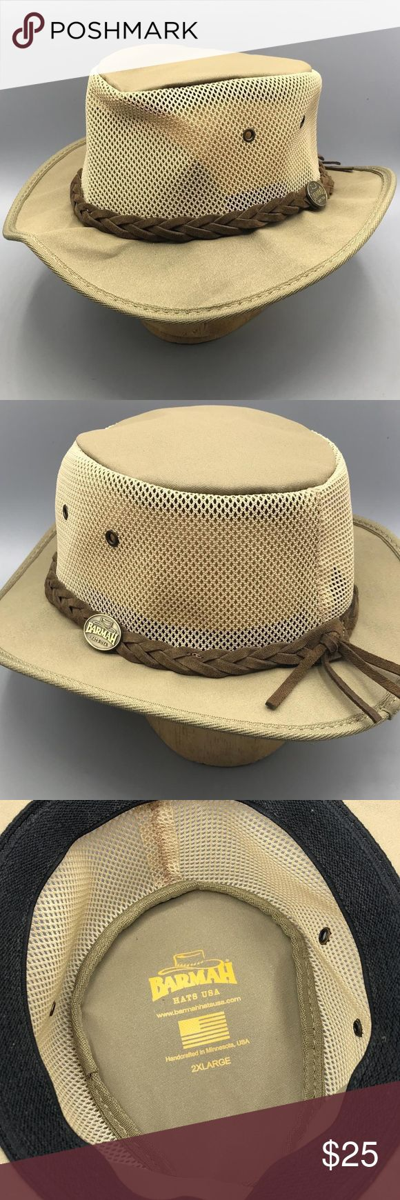 Barmah Hats Canvas Drover Hat Mens 2XL hat is in excellent condition Barmah Accessories Hats