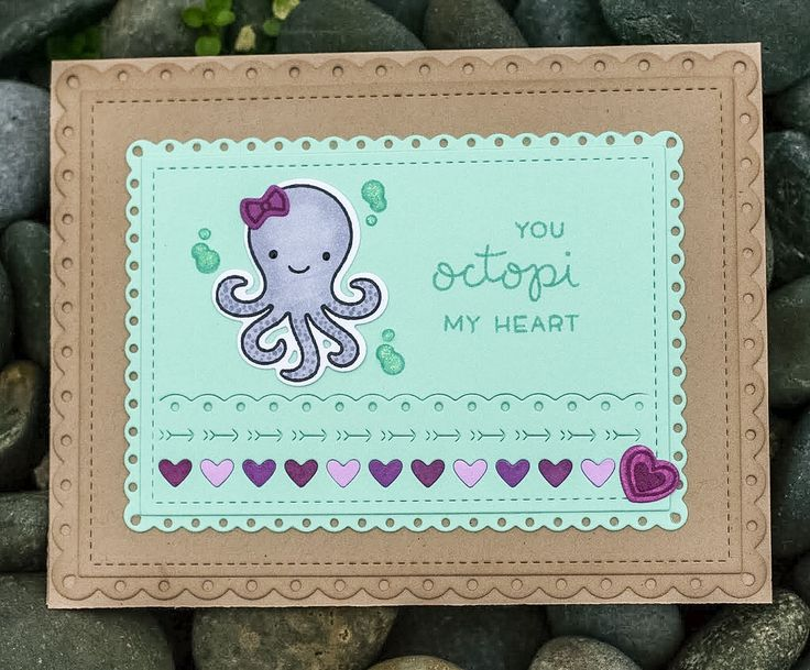 Lawn Fawn Octopi My Heart
