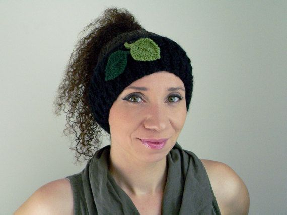 Knitted Headband / Winter / Leaves / Gifts for by KittedDesigns