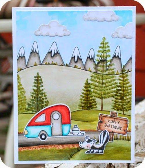 Innovative Happy Birthday Camper Map Card  Happy Camper  Birthday