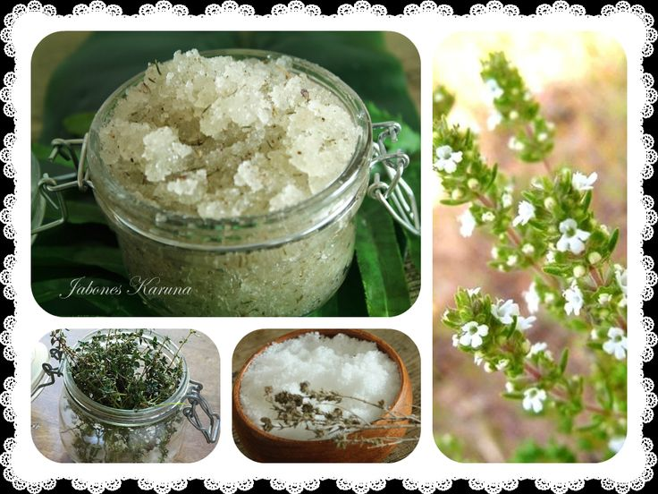 Scrub with Epsom salts thyme
