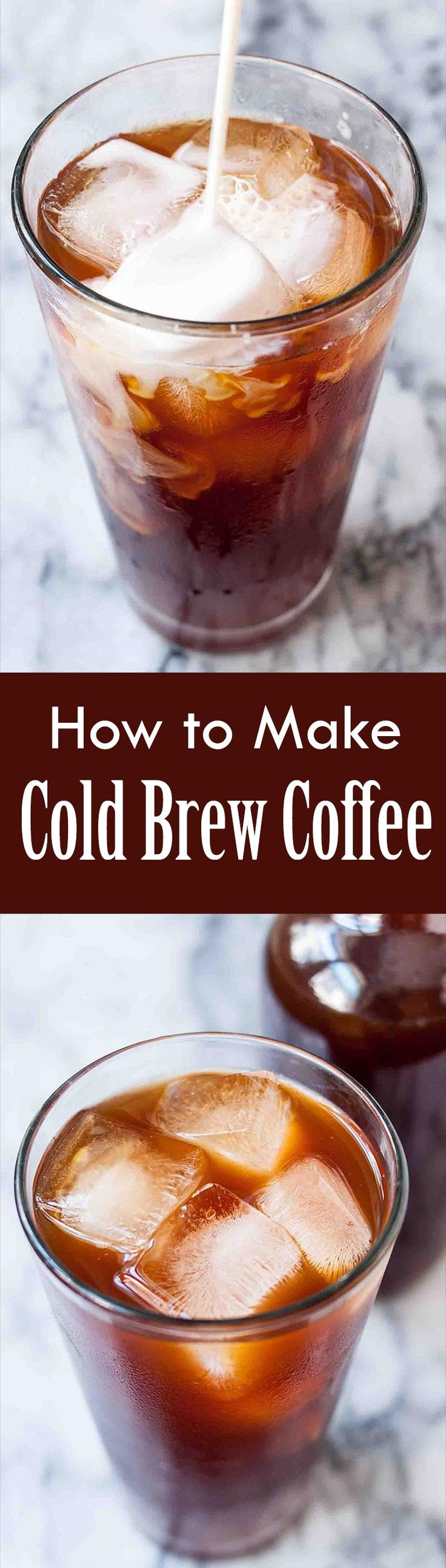 Skip the line at the coffee shop and make your own cold brew iced coffee! This method is so easy, saves you money, and makes a great glass of iced coffee.