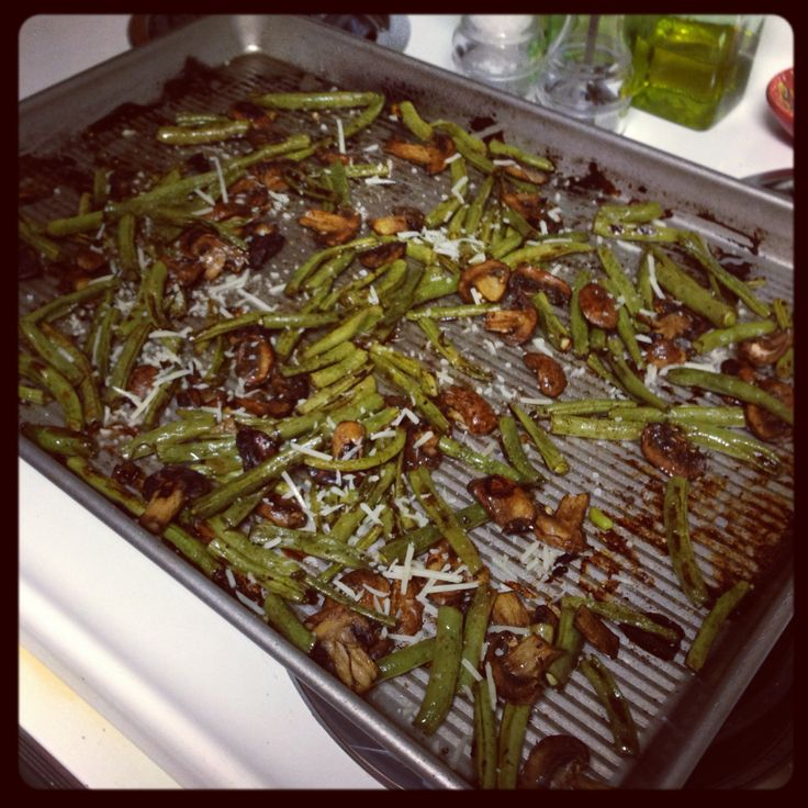 Roasted Green Beans with Mushrooms, Balsamic and Parmesan | FOODIE ...